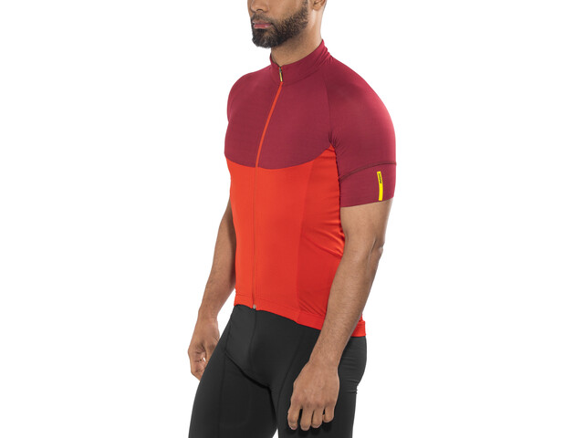 Mavic Ksyrium Pro SS Jersey Men fiery red/tibetan red